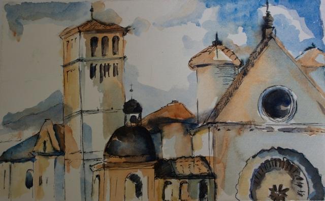 assisi-watercolor-sketch
